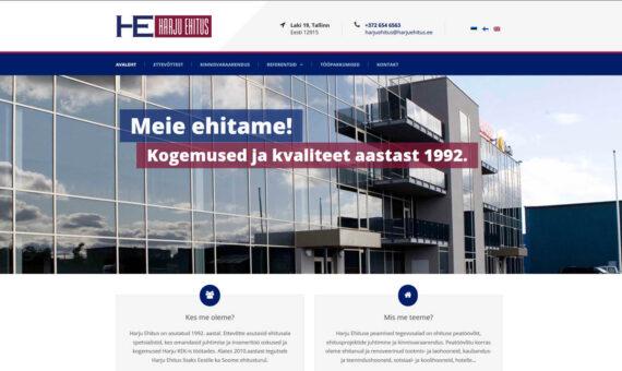 Harju Ehitus veebileht