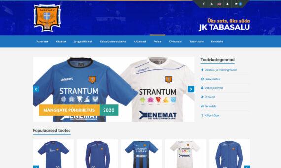 JK Tabasalu veebileht ja e-pood