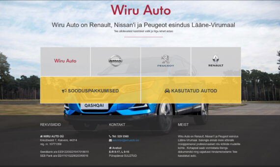WiruAuto veebileht ja e-pood